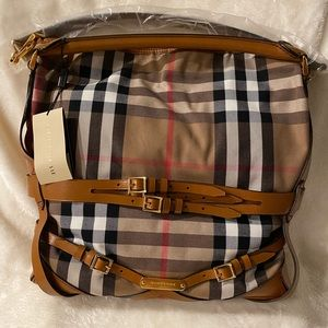 Authentic Vintage Burberry  Hobo Bag